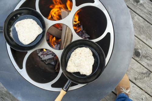 feuerei mit Kochaufsatz