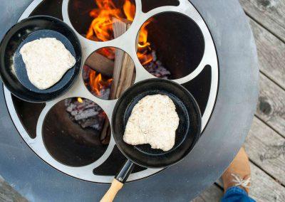 feuerei beim Kochen